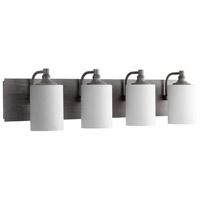 Quorum 5009-4-17 Celeste 4 Light 33 inch Zinc Vanity Light Wall Light