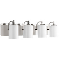 Quorum 5009-4-62 Celeste 33 inch Polished Nickel Vanity Wall Light, Opal