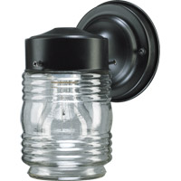 Quorum 5010-15 Signature 1 Light 8 inch Gloss Black Outdoor Wall Lantern