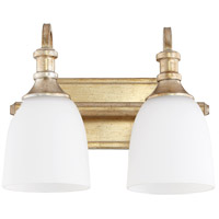 Quorum 5011-2-60 Richmond 2 Light 13 inch Aged Silver Leaf Vanity Light Wall Light