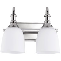Quorum 5011-2-62 Richmond 2 Light 13 inch Polished Nickel Vanity Light Wall Light