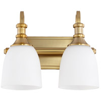 Quorum 5011-2-80 Richmond 2 Light 13 inch Aged Brass Vanity Light Wall Light