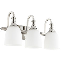 Quorum 5011-3-62 Richmond 3 Light 20 inch Polished Nickel Vanity Light Wall Light