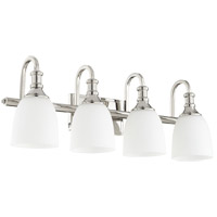 Quorum 5011-4-62 Richmond 4 Light 28 inch Polished Nickel Vanity Light Wall Light
