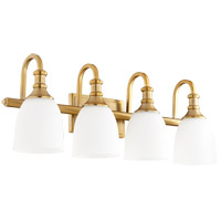 Quorum 5011-4-80 Richmond 4 Light 28 inch Aged Brass Vanity Light Wall Light