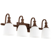 Quorum 5011-4-86 Richmond 4 Light 28 inch Oiled Bronze Vanity Light Wall Light