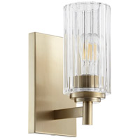 Quorum 502-1-80 Fort Worth 1 Light 5 inch Aged Brass Wall Sconce Wall Light