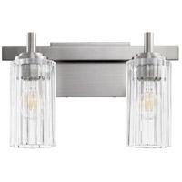 Quorum 502-2-65 Fort Worth 2 Light 15 inch Satin Nickel Vanity Light Wall Light