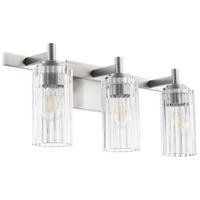 Quorum 502-3-65 Fort Worth 3 Light 23 inch Satin Nickel Vanity Light Wall Light