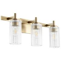 Quorum 502-3-80 Fort Worth 3 Light 23 inch Aged Brass Vanity Light Wall Light