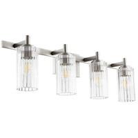 Quorum 502-4-65 Fort Worth 4 Light 32 inch Satin Nickel Vanity Light Wall Light