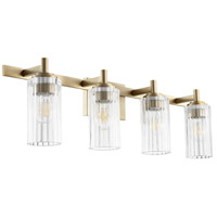 Quorum 502-4-80 Fort Worth 4 Light 32 inch Aged Brass Vanity Light Wall Light