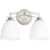 Quorum 5027-2-65 Jardin 2 Light 15 inch Satin Nickel Vanity Light Wall Light
