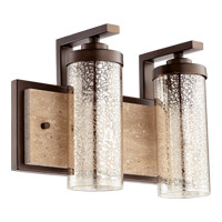 Quorum 503-2-86 Julian 2 Light 15 inch Oiled Bronze Vanity Wall Light