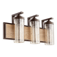Quorum 503-3-86 Julian 3 Light 22 inch Oiled Bronze Vanity Wall Light
