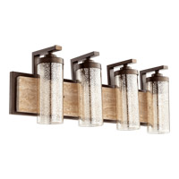 Quorum 503-4-86 Julian 4 Light 29 inch Oiled Bronze Vanity Wall Light