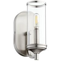 Quorum 5044-1-65 Collins 1 Light 15 inch Satin Nickel Wall Sconce Wall Light