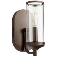 Quorum 5044-1-86 Collins 1 Light 15 inch Oiled Bronze Wall Sconce Wall Light