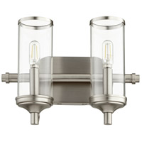 Quorum 5044-2-65 Collins 2 Light 13 inch Satin Nickel Vanity Light Wall Light