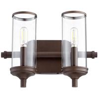 Quorum 5044-2-86 Collins 2 Light 13 inch Oiled Bronze Vanity Light Wall Light