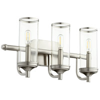 Quorum 5044-3-65 Collins 3 Light 19 inch Satin Nickel Vanity Light Wall Light