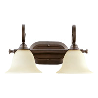 Quorum 5053-2-86 Celesta 2 Light 17 inch Oiled Bronze Vanity Light Wall Light in Amber Scavo