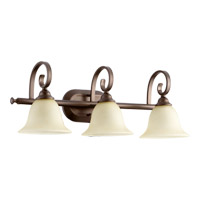 Quorum 5053-3-86 Celesta 3 Light 26 inch Oiled Bronze Vanity Light Wall Light in Amber Scavo