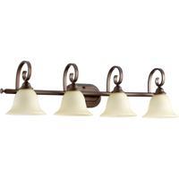 Quorum 5053-4-86 Celesta 4 Light 36 inch Oiled Bronze Vanity Light Wall Light in Amber Scavo