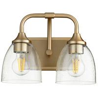 Quorum 5059-2-280 Enclave 2 Light 13 inch Aged Brass Vanity Light Wall Light