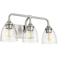 Quorum 5059-3-265 Enclave 3 Light 19 inch Satin Nickel Vanity Light Wall Light