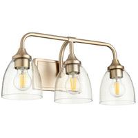 Quorum 5059-3-280 Enclave 3 Light 19 inch Aged Brass Vanity Light Wall Light