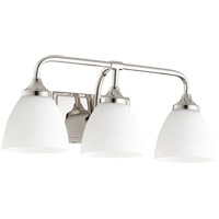 Quorum 5059-3-62 Enclave 3 Light 19 inch Polished Nickel Vanity Light Wall Light