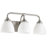 Quorum 5059-3-65 Enclave 3 Light 19 inch Satin Nickel Vanity Light Wall Light