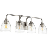 Quorum 5059-4-265 Enclave 4 Light 27 inch Satin Nickel Vanity Light Wall Light