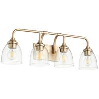 Quorum 5059-4-280 Enclave 4 Light 27 inch Aged Brass Vanity Light Wall Light