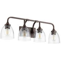 Quorum 5059-4-286 Enclave 4 Light 27 inch Oiled Bronze Vanity Light Wall Light
