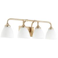 Quorum 5059-4-60 Enclave 4 Light 27 inch Aged Silver Leaf Vanity Light Wall Light