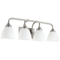 Quorum 5059-4-65 Enclave 4 Light 27 inch Satin Nickel Vanity Light Wall Light