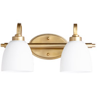 Quorum 5060-2-180 Reyes 2 Light 16 inch Aged Brass Vanity Light Wall Light
