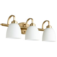 Quorum 5060-3-180 Reyes 3 Light 25 inch Aged Brass Vanity Light Wall Light