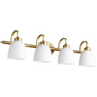 Quorum 5060-4-180 Reyes 4 Light 34 inch Aged Brass Vanity Light Wall Light