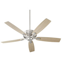 Quorum 50605-65 Gamble 60 inch Satin Nickel with Silver and Weathered Gray Blades Ceiling Fan