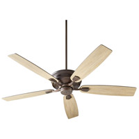 Quorum 50605-86 Gamble 60 inch Oiled Bronze with Oiled Bronze and Weathered Oak Blades Ceiling Fan