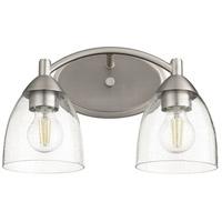 Quorum 5069-2-265 Barkley 2 Light 14 inch Satin Nickel Vanity Light Wall Light