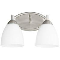 Quorum 5069-2-65 Barkley 2 Light 14 inch Satin Nickel Vanity Light Wall Light