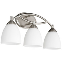 Quorum 5069-3-65 Barkley 3 Light 21 inch Satin Nickel Vanity Light Wall Light