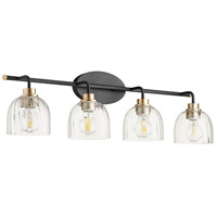 Quorum 507-4-6980 Espy 4 Light 33 inch Noir and Aged Brass Vanity Light Wall Light