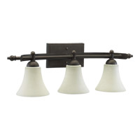 Quorum 5077-3-86 Aspen 3 Light 27 inch Oiled Bronze Vanity Light Wall Light