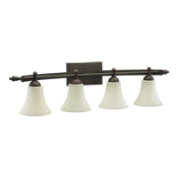 Quorum 5077-4-86 Aspen 4 Light 36 inch Oiled Bronze Vanity Light Wall Light