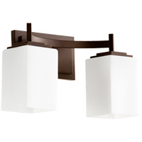 Quorum 5084-2-86 Delta 2 Light 15 inch Oiled Bronze Vanity Light Wall Light